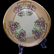 SALE Hermann Ohme Silesia Arts & Crafts Grape Motif Plate (Signed/c.1882-1930)