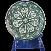 "SALE Hermann Ohme Silesia Arts & Crafts Floral Design Plate (Signed ""P. Hughes""/c.18"