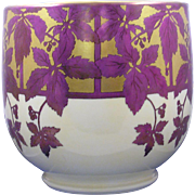 SALE William Guerin & Co. (WG&Co.) Limoges Arts & Crafts Vine & Berry Motif Jardinière/Vase
