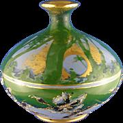 SALE RStK Amphora Austria Forest & Moon Motif Enameled Vase (c.1899-1905)