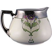"SALE Zeh, Scherzer & Co. (ZS&Co.) Bavaria Arts & Crafts Floral Motif Pitcher (Signed ""Vio"