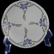 SALE Hermann Ohme Austria Silesia Arts & Crafts Floral Motif Plate (c.1882-1918)