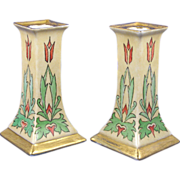 SALE Oscar & Edgar Gutherz (O&EG) Austria Arts & Crafts Candlesticks (c.1899 ...
