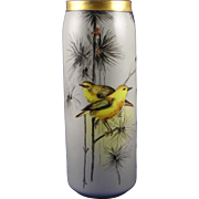 "SALE Moritz Zdekauer (MZ) Austria Arts & Crafts Bird Motif Vase (Signed ""M.L.S."" ..."