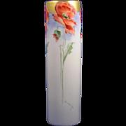 """SALE Moritz Zdekauer (MZ) Austria Arts & Crafts Poppy Motif Vase (Signed """"Goodrich""""/"""