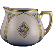 SALE Zeh Scherzer & Co. (ZS&Co.) Bavaria Arts & Crafts Fruit Motif Cider/Lemonade Pitcher (Sig
