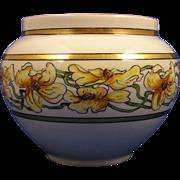 SALE William Guerin & Co. (WG&Co.) Limoges Arts & Crafts Floral Motif Jardinière/Vase (Signed