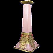SALE Bernardaud & Co. (B&Co.) Limoges Arts & Crafts Gold Grapes Motif Candlestick (c.1914-1930