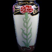 """SALE Ceramic Art Company (CAC) Belleek Arts & Crafts Carnation Design Vase (Signed """"B. Vo"""