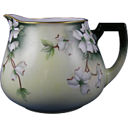 SALE Zeh, Scherzer & Co. (ZS&Co.) Austria Dogwood Flower Design Cider/Lemonade Pitcher (c.1880