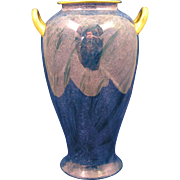 SALE Pickard Studio Mottled Blue Design Handled Vase (c.1918-1919)