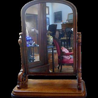 SALE Beautiful Victorian Walnut Shaving Mirror