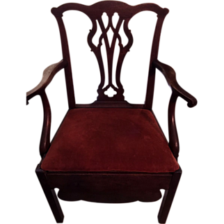 SALE American Chippendale Chamber Chair