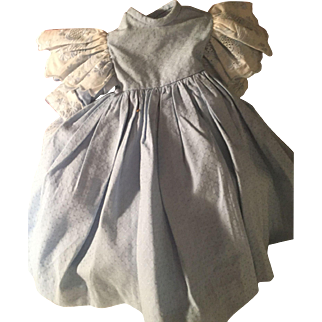 SALE Beautiful Baby Blue Vintage Dress for Antique Doll~