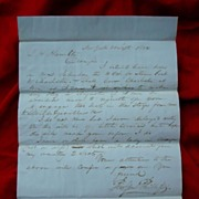 1834 Stampless Letter~ New York to Georgia by stagecoach