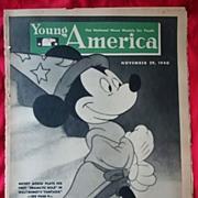 SOLD 1940 Walt Disney Fantasia  Mickey Mouse Young America Magazine