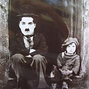 1921 Vintage Photo Charlie Chaplin & Jackie Coogan In The Kid