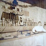 c.1900 Vinita,Oklahoma Bar Photo with Ernest Wickland