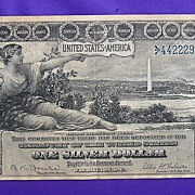 SALE PENDING 1896 Educational Note Silver Certificate X-Fine Estate Fresh