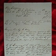 Wise County,Va. Confederate Civil War  Document for Wise Dragoons Calvary