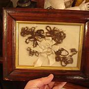 Stunning Georgian era Mourning Folk Art Hair Display