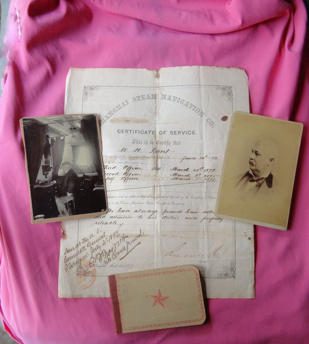 1883 Ship Diary from the Shanghai Navigational Company with Photos