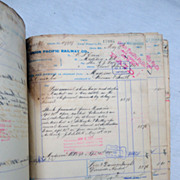 SOLD 1890 Union Pacific Railroad Ledger Interesting Old West Content