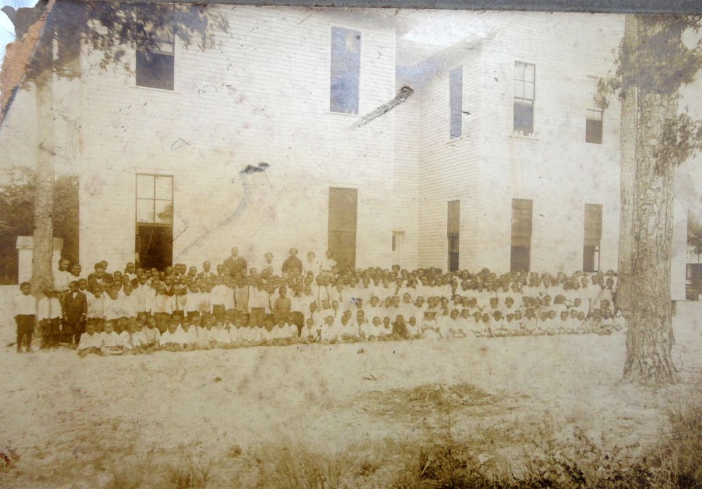 Daytona Beach,Florida Albumen Photo of African-American School Prof. Howard