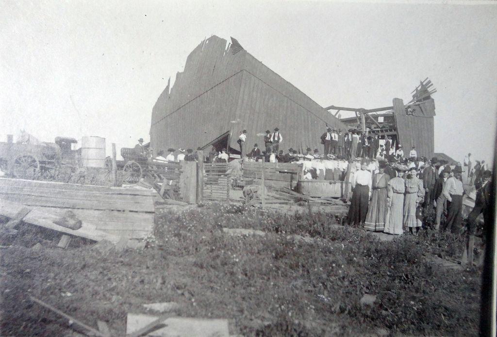 1899 New Richmond,Wisconsin Tornado Destruction Photograph