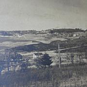 1895 Photo of Metropolitan  Dam Wachusett Reservoir being Built Clinton & Boylston Mass