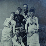 Martha's Vineyard Tintype of Tennis Players