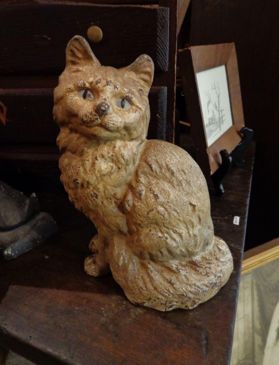 Hudley Kitty Cat Door Castiron Door Stop