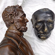 SALE PENDING Early Abraham Lincoln Life Mask & Bust