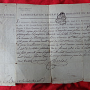 1789 French Revolution Legal Document Joseph Poinsignon