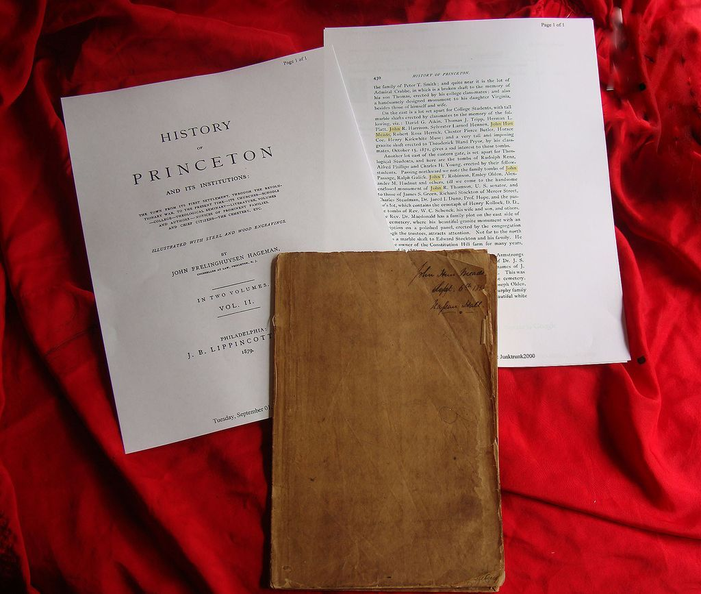 Princeton University John Hun Meads Notebook from Lost Steamboat Pacific 1856
