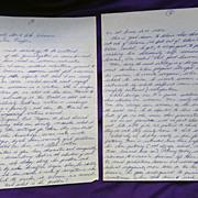 Strange Hand Written Letter by Jules Feiffer on Why Men Hate Women