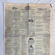Civil War Newspaper THE GLOBE June 1st 1861