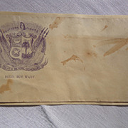 """South Carolina Confederate Postal Cover Southern Rights """"Death Before Dishonor"""