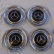 SOLD 1969 300 SEL Mercedes Hub Caps Complete Set