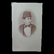 Rare CDV Photograph of Ibrahim Pasha Youngest Son Egypt by Calamita of Cario