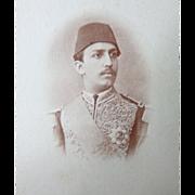 Rare CDV Photograph of Tewfik Pasha of Egypt