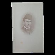 Rare CDV Photograph of Houssam Pasha Egypt 3rd son ministere de la quent