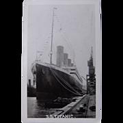 SS Titanic Postcard at Thompson Dock,Ireland