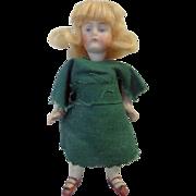 19th century German Bisque Pocket Doll from Virginia School Teachers Estate