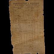 Civil War Alexandria,Va Train Conductors Report 1861