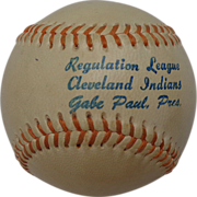 Gabe Paul Cleveland Indians League Baseball