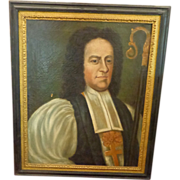 American 18th century Oil Painting of Protestant Deacon