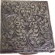 Art Deco Italian Ornate Sterling Silver Ladies Compact