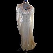 SOLD Head Turning Art Deco Beaded Wedding Dress Elizabeth Masiello Harlem,New York 1948