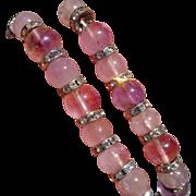 Natural Vintage Amethyst necklace with Swarovski diamonds